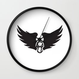 Angry Mallard Duck Head Wings Retro Wall Clock