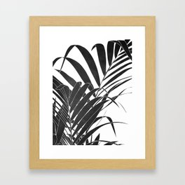 minimalist palm leaves Framed Art Print