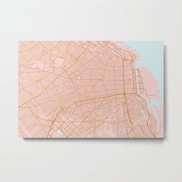 Buenos Aires map, Argentina Metal Print