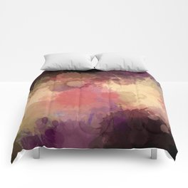 Modern Contemporary Ultra Violet Glow Abstract Comforters