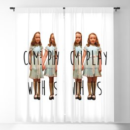 Come Play With Us Blackout Curtain
