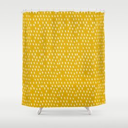 Yellow Modernist Shower Curtain