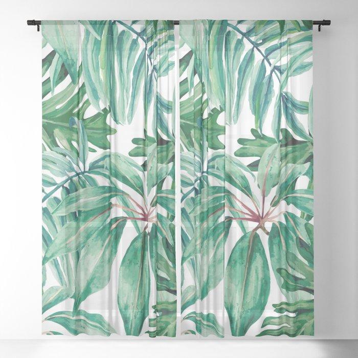 Tropical jungle Sheer Curtain