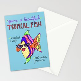 Leslie Knope Compliments: Tropical Fish  Stationery Cards