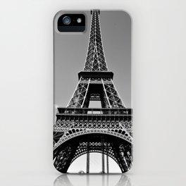 Tower Eiffel En Noir iPhone Case