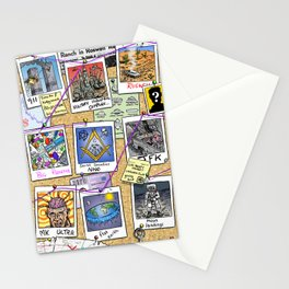 Conspiracy Theorist Stationery Cards