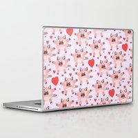 pigs Laptop & iPad Skins featuring pigs by elvia montemayor