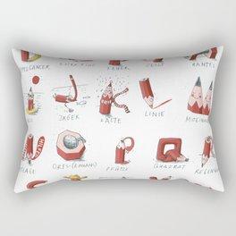 Pencil-ABC Rectangular Pillow