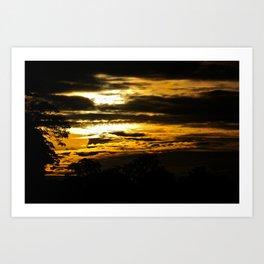 Sunset on the Kinabatangan Art Print