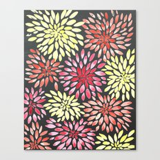 Bold Watercolor Flowers Canvas Print
