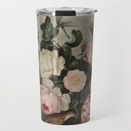 Thornton, Robert John (1768-1837) - The Temple of Flora 1807 - Roses Travel Mug