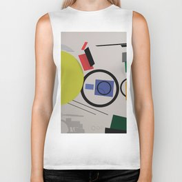 Abstract Composition 232 Biker Tank
