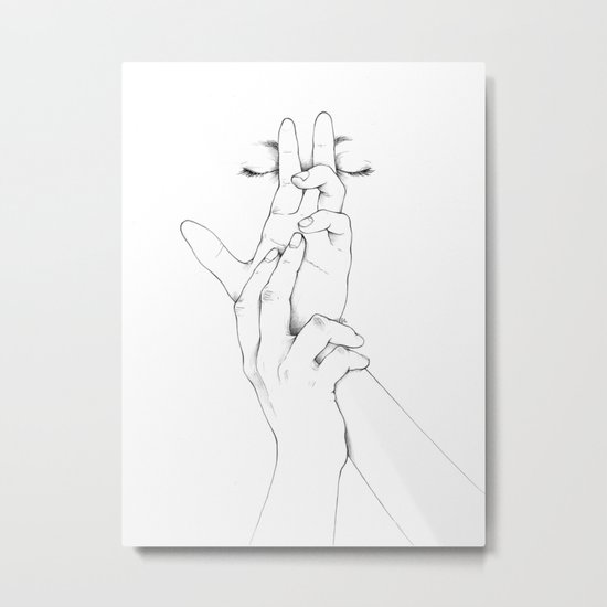 Untitled Hands No. 10 Metal Print