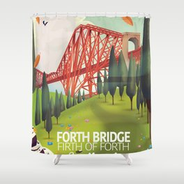 Forth Bridge, Firth of Forth,Scotland Shower Curtain