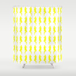Yellow Bold Mod GoGo Girls Shower Curtain