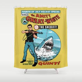 The Amity Great White Shower Curtain
