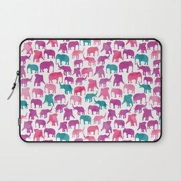 Watercolor Elephant Stampede Pretty Pattern Laptop Sleeve