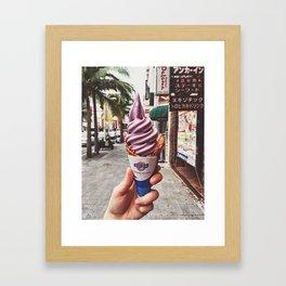 Purple ice-cream Framed Art Print