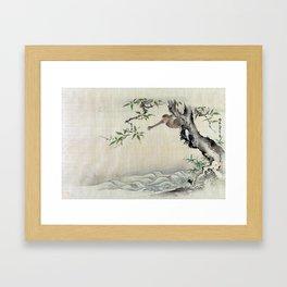 Kano Tsunenobu Monkey Framed Art Print