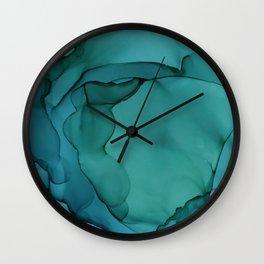 Sea Ink 3 Wall Clock