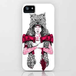 Runs with Wolves iPhone Case