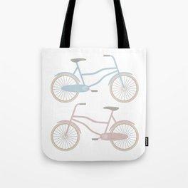 Vintage Bicycle Pattern Tote Bag