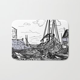 Boats on the Sea Bath Mat