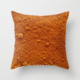 Naranja Absoluto Throw Pillow