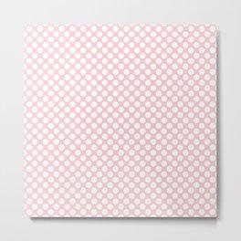 Large White Spots On Millennial Pink Pastel Metal Print