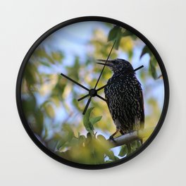 Common Starling Wall Clock