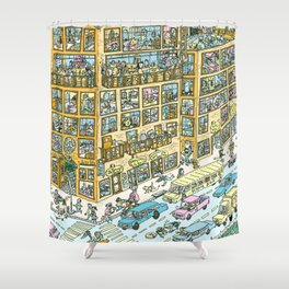 City Block Shower Curtain