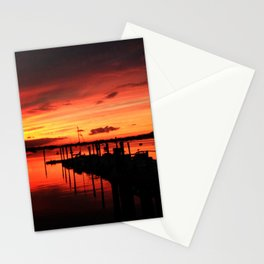 Sunset on the Bay Stationery Cards