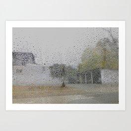 grey rain Art Print