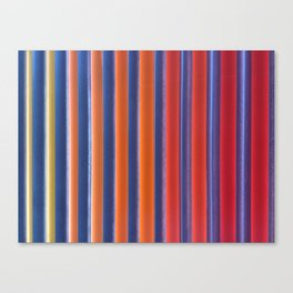 Hot & Cold Stripes Canvas Print