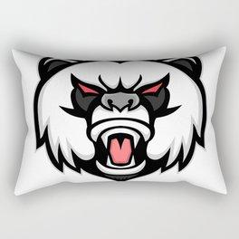 Angry Giant Panda Mascot Rectangular Pillow