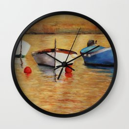 Resting boats Wall Clock