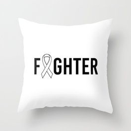 Fighter. Autism awareness mom, puzzle gift special education. Throw Pillow