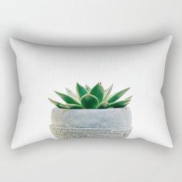 Simple Succulent Green Rectangular Pillow