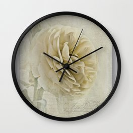 Botanical Notes  Wall Clock