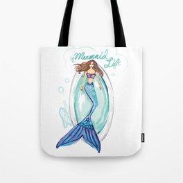 Mermaid in a Tub Tote Bag