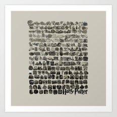 HOGWARTS QUOTES Art Print