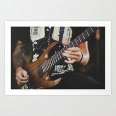 Guitarist with Tattoos Art Print
