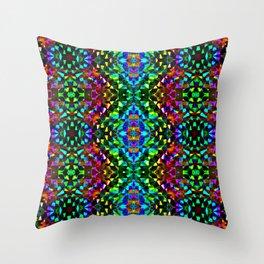 Glittering Kaleidoscope Mosaic Pattern Throw Pillow