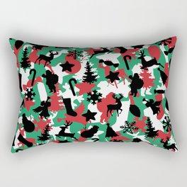 Christmas Camo WINTER WOODLAND Rectangular Pillow