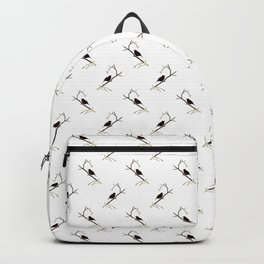 Blackbird Pattern in Black And White Backpack