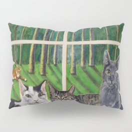 Window Cats Pillow Sham