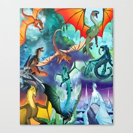 Wings-Of-Fire all dragon Canvas Print