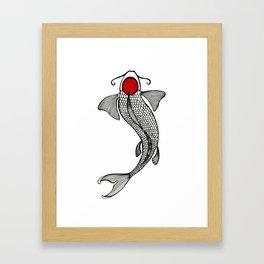 Tancho Koi Framed Art Print