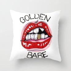 Golden Babe Throw Pillow