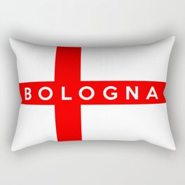 Bologna city Italy country flag name text Rectangular Pillow